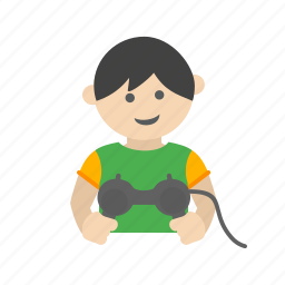 child, control, happy, kid, playing, toy, video icon