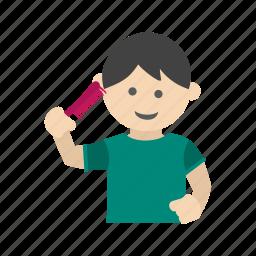 beautiful, brush, brushing, hair, hairbrush, kid, kids icon