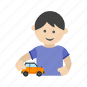 car, child, happy, kid, playing, race, toy