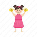 cheerful, cheerleading, happy, school, sport, team, young icon