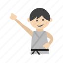 arts, belt, karate, kids, martial, sports, taekwondo icon
