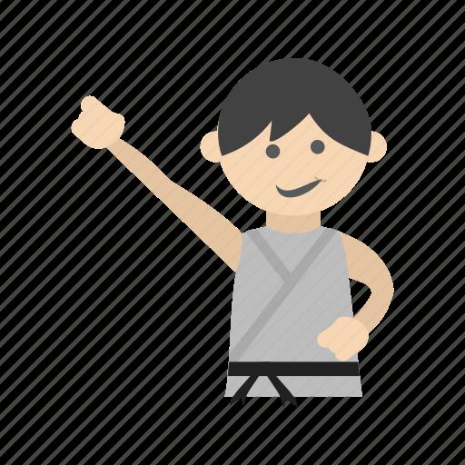 arts, belt, karate, kids, martial, sports, taekwondo icon