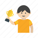 award, child, game, happy, kids, trophy, win icon