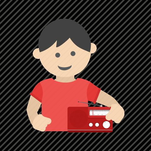 book, boy, child, kid, listening, nursery, poem icon