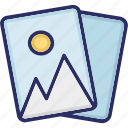 cards, playing, mountain, gallary icon