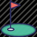 flag, golf, hole icon