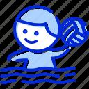 ball, man, playing, polo icon