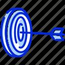 arrow, goal, hit, target icon