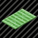 soccer, field, isometric