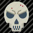 bones, death, shape, skull icon