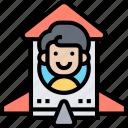 rocket, toy, kids, plaything, happy