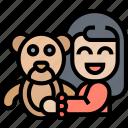 teddy, bear, stuffed, animal, happiness icon
