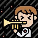 trumpet, music, brass, instrument, jazz