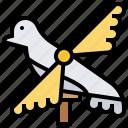 bird, paper, toy, whirligig, wind icon