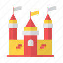 battle, castle, game, kingdom, palace, war icon
