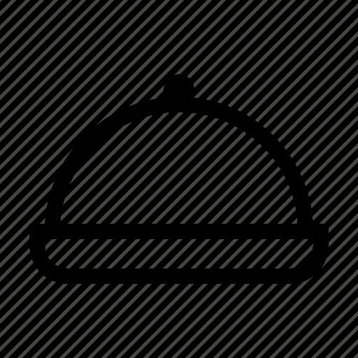 cloche, dinner, dish, menu, restaurant, room, service icon
