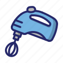 hand mixer, kitchen, mixer icon