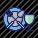 eating, eating utensil, kitchen icon