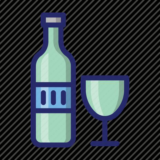 bottle, glass, kitchen icon