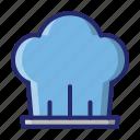 chef hat, hat, kitchen icon