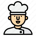 chef, cooking, equipment, food, household, kitchen icon