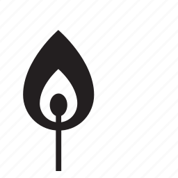 fire, kitchen, match icon