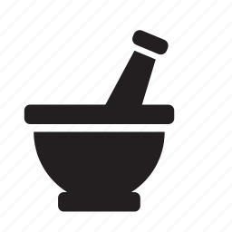 bowl, chopping, kitchen, mortar, smasher, stone icon
