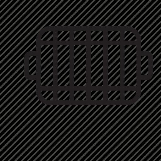 bbq, grill, iron, kitchen icon