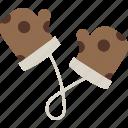 gloves, kitchen icon