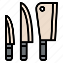 knives, kitchen, cooking, utensils icon