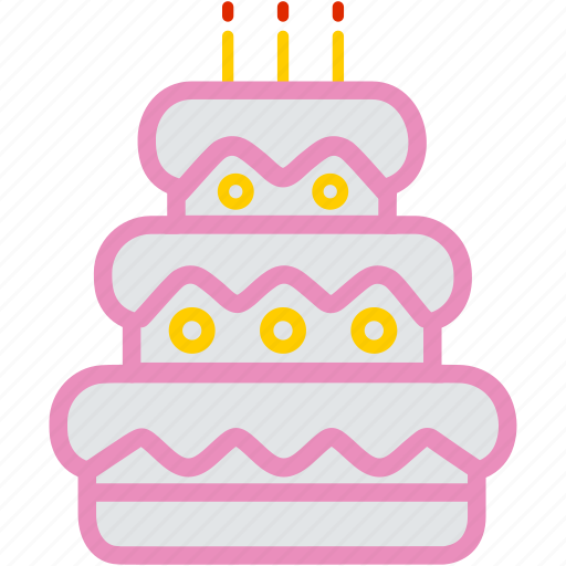 cake, celebration, dessert, food, party, sweet icon