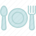 breakfast, cutlery, dinner, food, fork, kitchen, knife icon