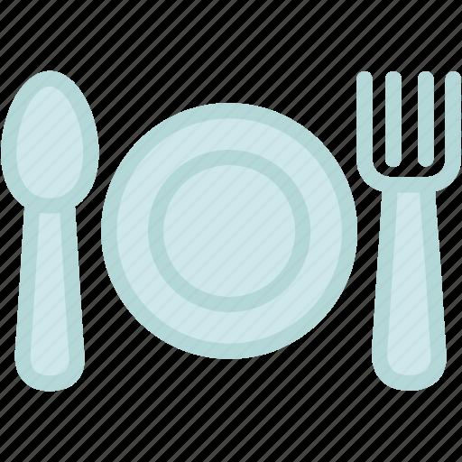 breakfast, cutlery, dinner, food, fork, kitchen, knife icon