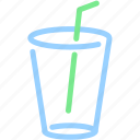 beverage, cup, drink, glass, straw, water