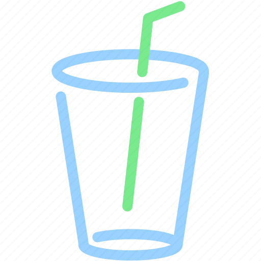 beverage, cup, drink, glass, straw, water icon