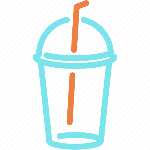 beverage, coffee, drink, straw, water icon