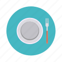 food, fork, kitchen, lunch, plate, restaurant icon