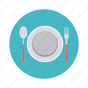 food, kitchen, knife, lunch, plate, restaurant, spoon icon