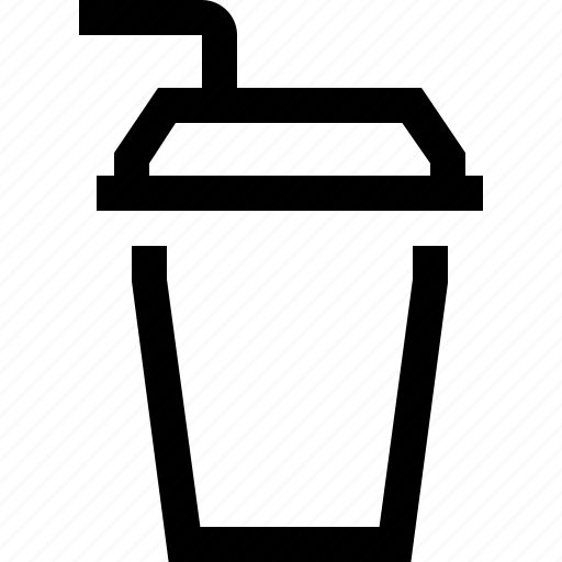cardboard, coffee, drink, espresso, filter, milk, straw icon