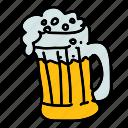 beer, drinks, foam, glass