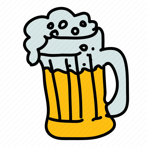 beer, drinks, foam, glass icon
