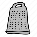 cheese, equipment, grater, kitchen icon