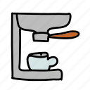 coffee, drink, drinks, hot, maker icon