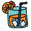 cool, drink, drinks, ice, straw icon