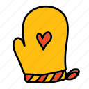 hand, heart, hot, kitchen, mittens, safety icon
