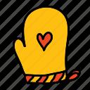 hand, heart, hot, kitchen, mittens, safety