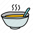 bowl, food, soup icon