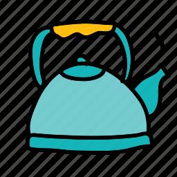 coffee, drinks, hot, pot, tea icon