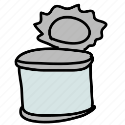 can, food, kitchen, metal, tin icon