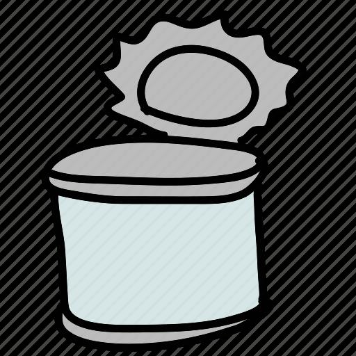 can, food, kitchen, metal, tin icon